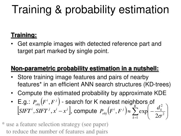 Training & probability estimation