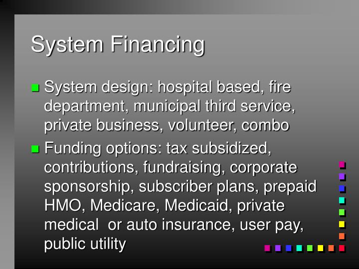 System Financing