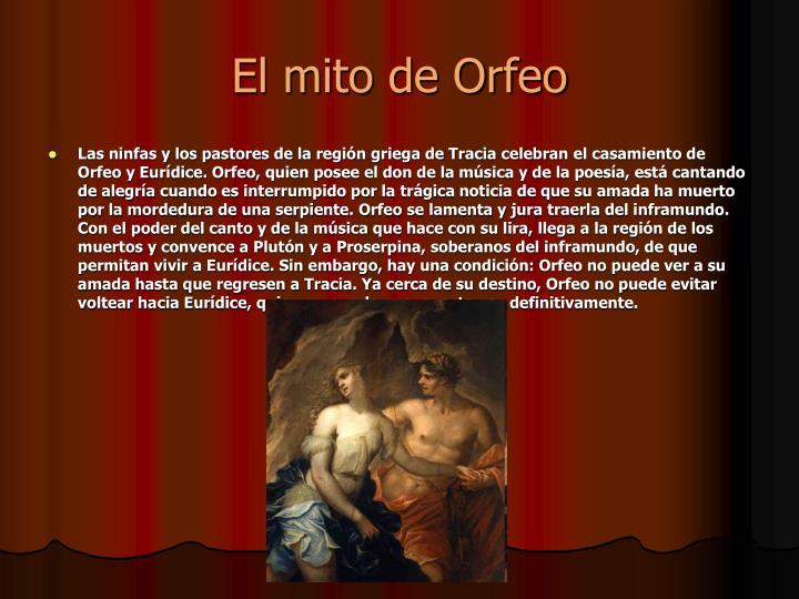 El mito de Orfeo