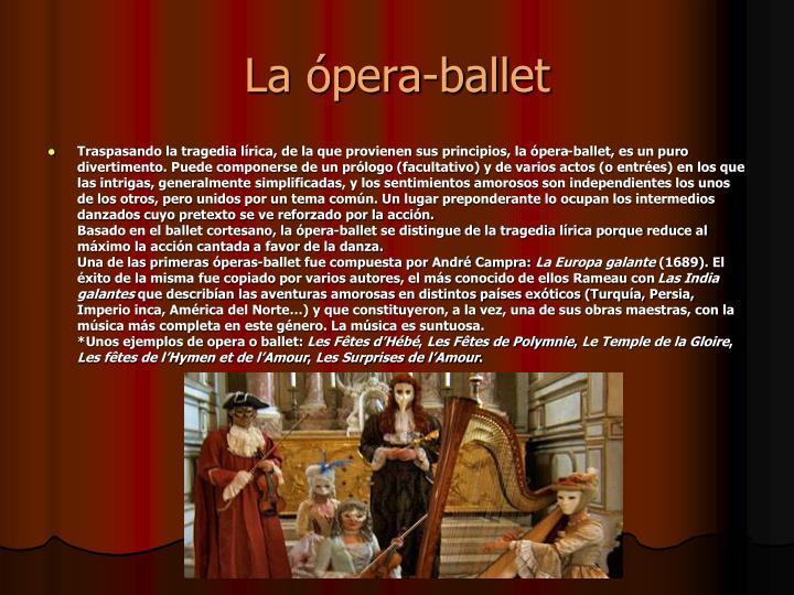 La ópera-ballet