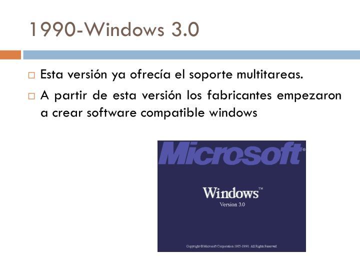 1990-Windows 3.0