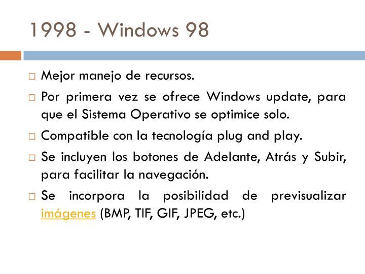 1998 - Windows 98