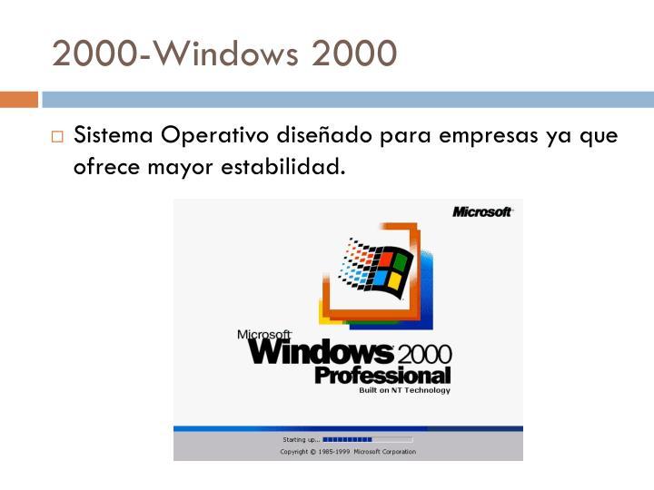 2000-Windows 2000