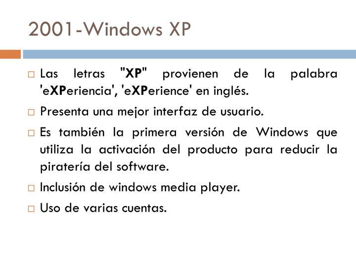 2001-Windows XP