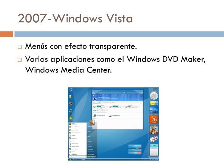 2007-Windows Vista