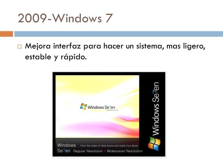 2009-Windows 7