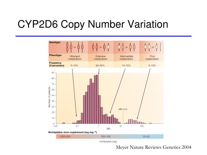 CYP2D6 Copy Number Variation