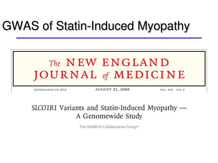 GWAS of Statin-Induced Myopathy