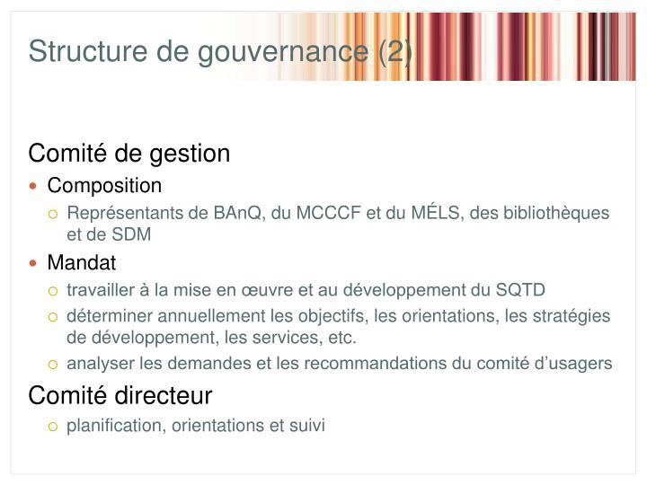 Structure de gouvernance (2)