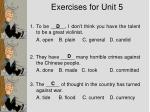 exercises for unit 5