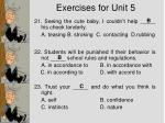exercises for unit 57