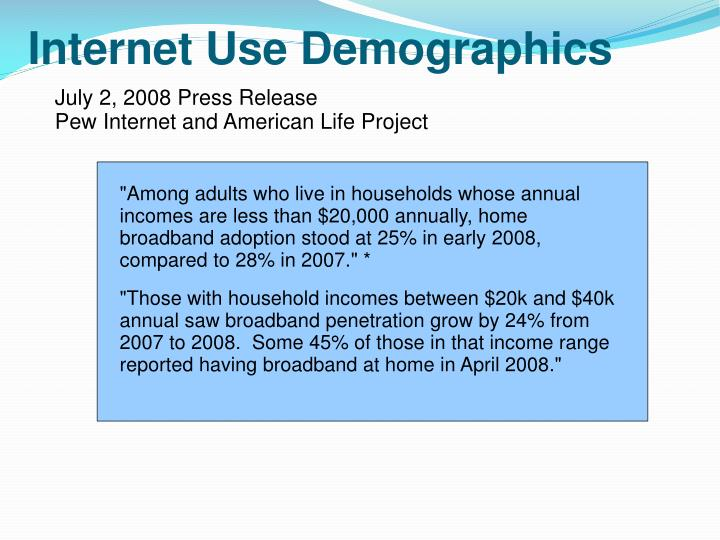 Internet use demographics1