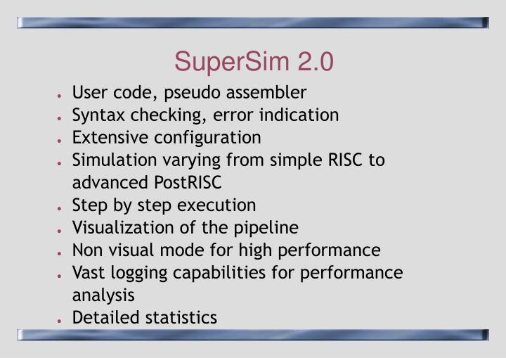 SuperSim 2.0