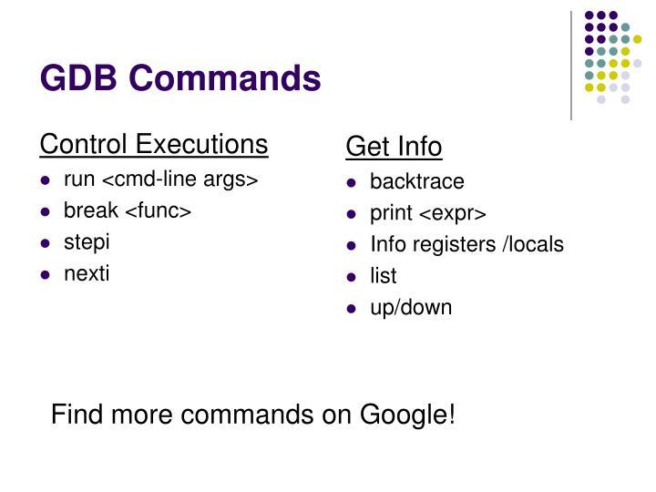 GDB Commands