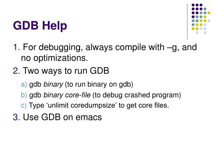 GDB Help