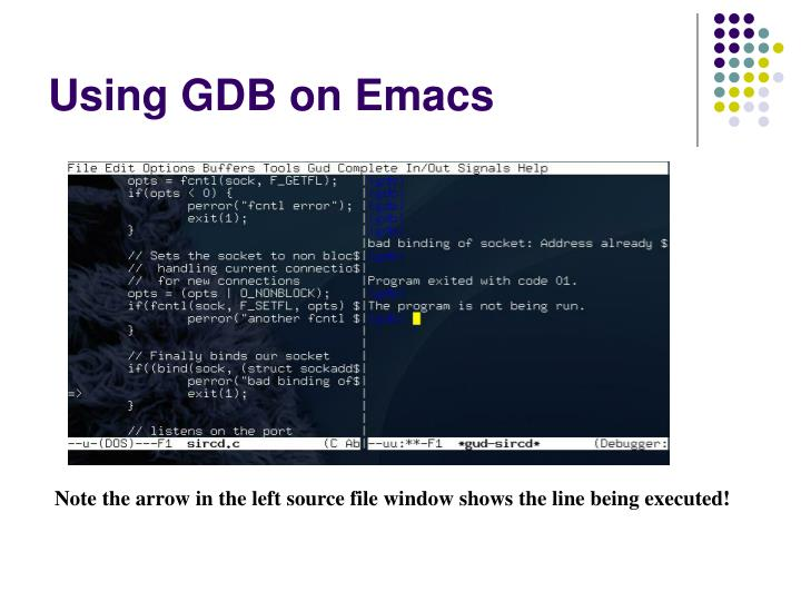Using GDB on Emacs