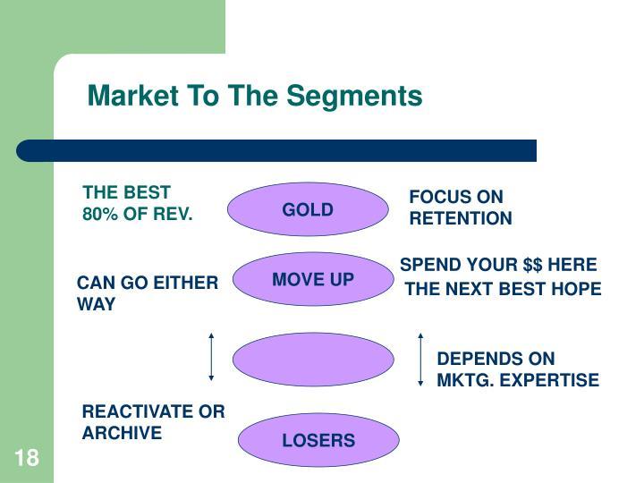 Market To The Segments
