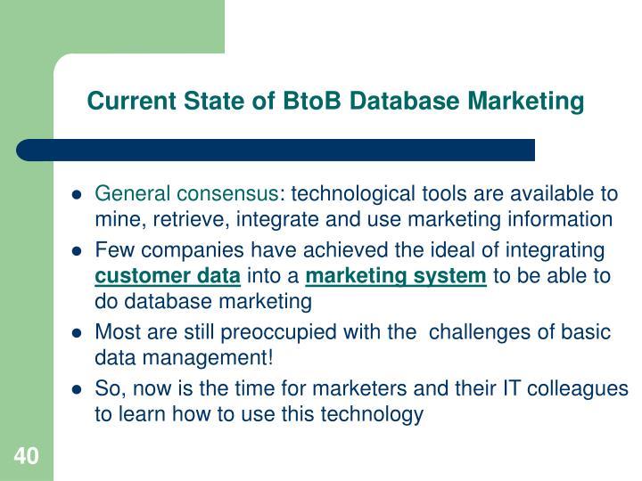 Current State of BtoB Database Marketing