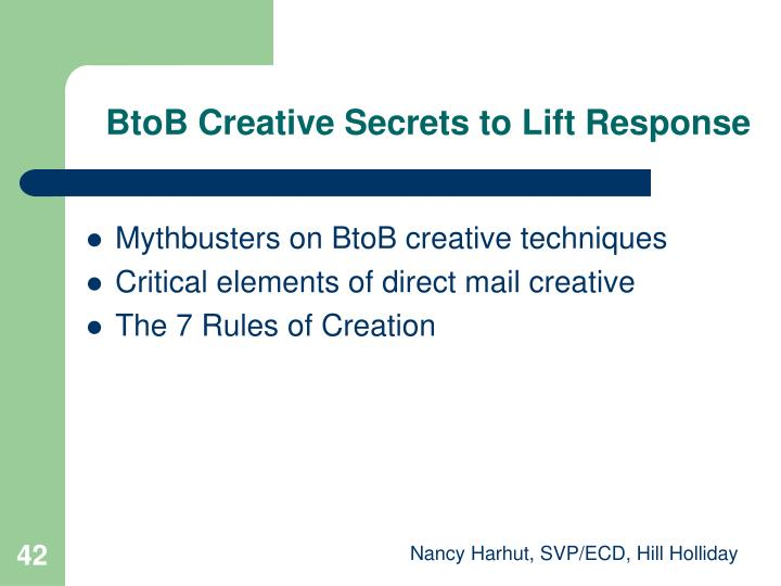 BtoB Creative Secrets to Lift Response