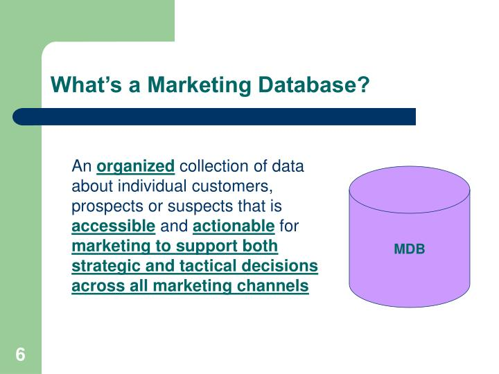 Whats a Marketing Database?