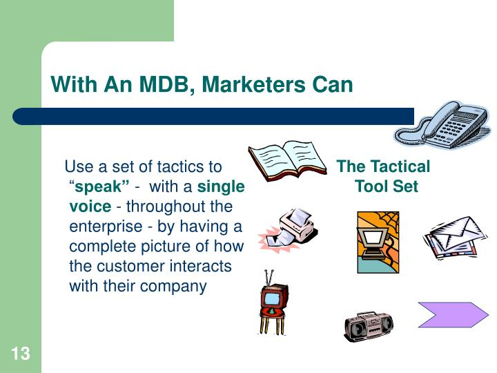 With An MDB, Marketers Can