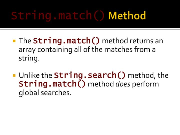 String.match()