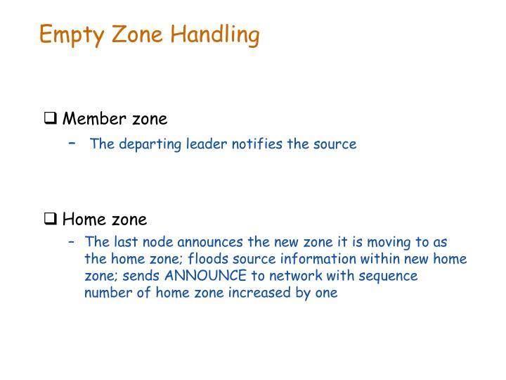 Empty Zone Handling