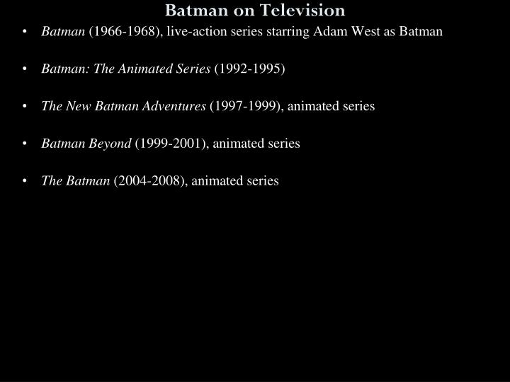 Batman on Television