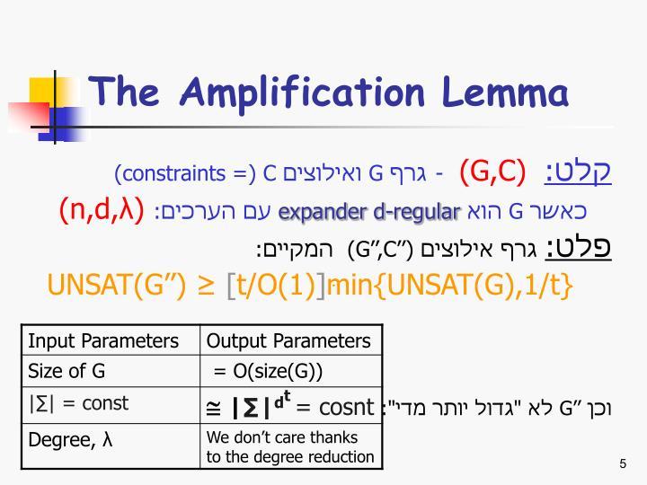 The Amplification Lemma