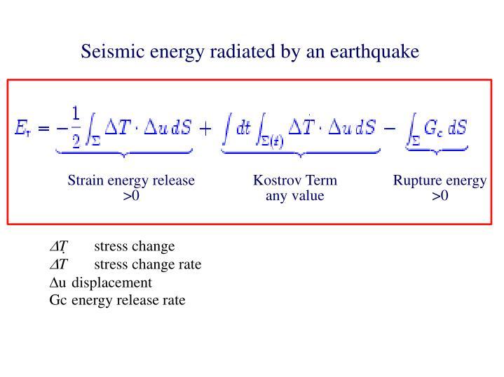 Seismic energy radiated by an earthquake