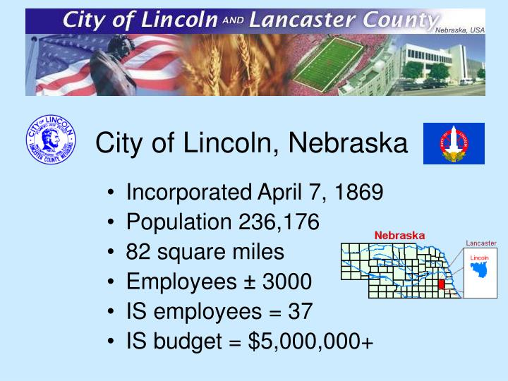 City of Lincoln, Nebraska