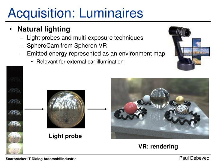 Acquisition: Luminaires