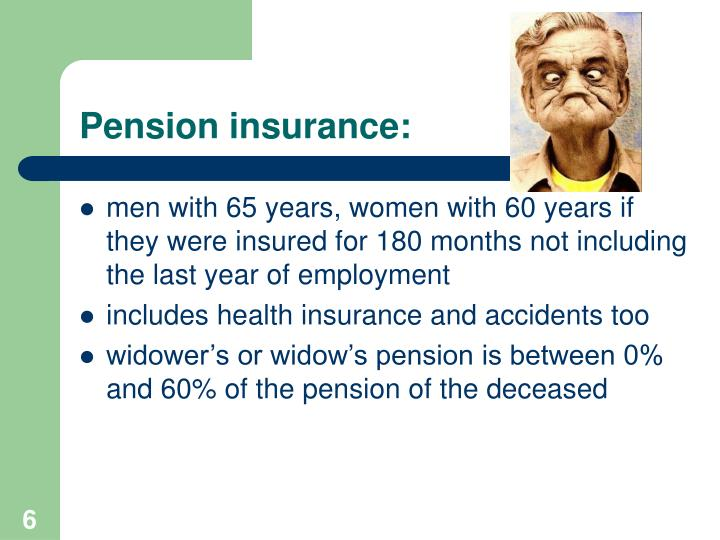 Pension insurance: