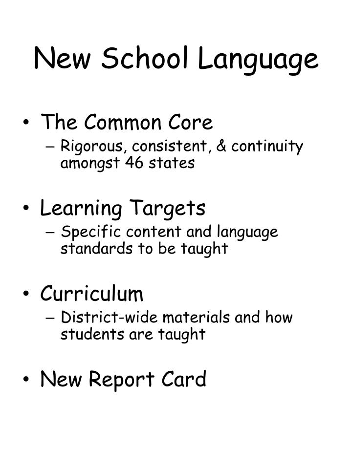 New School Language
