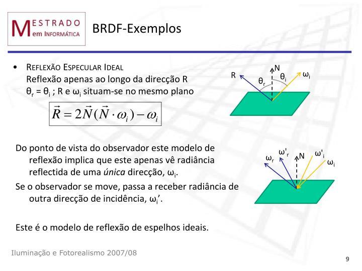 BRDF-Exemplos