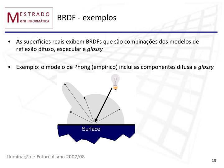 BRDF - exemplos