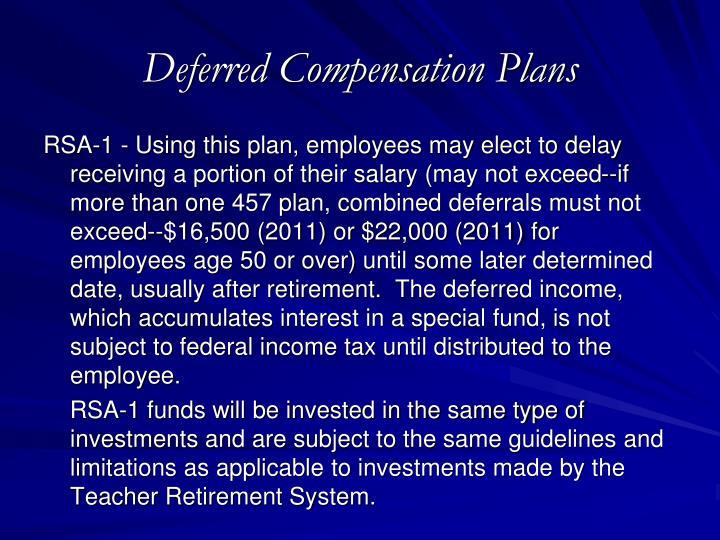 Deferred Compensation Plans