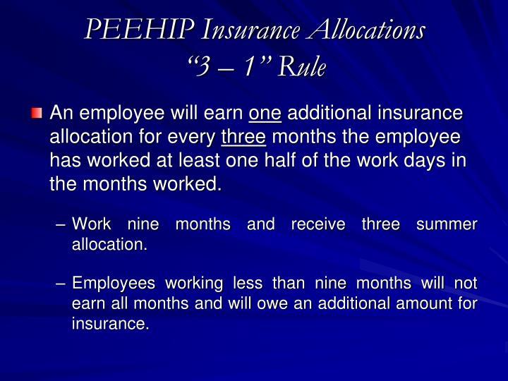 PEEHIP Insurance Allocations