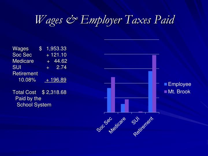 Wages & Employer Taxes Paid