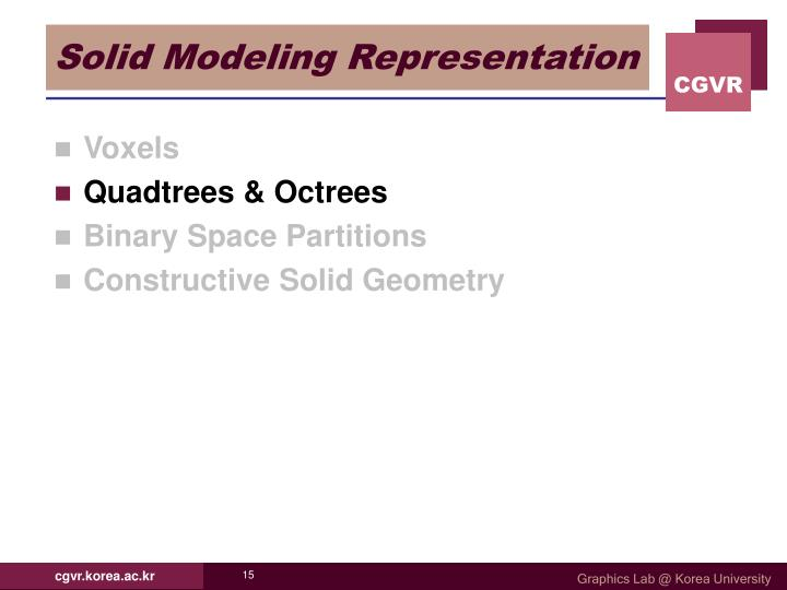 Solid Modeling Representation