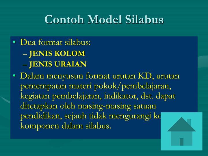 Contoh Model Silabus