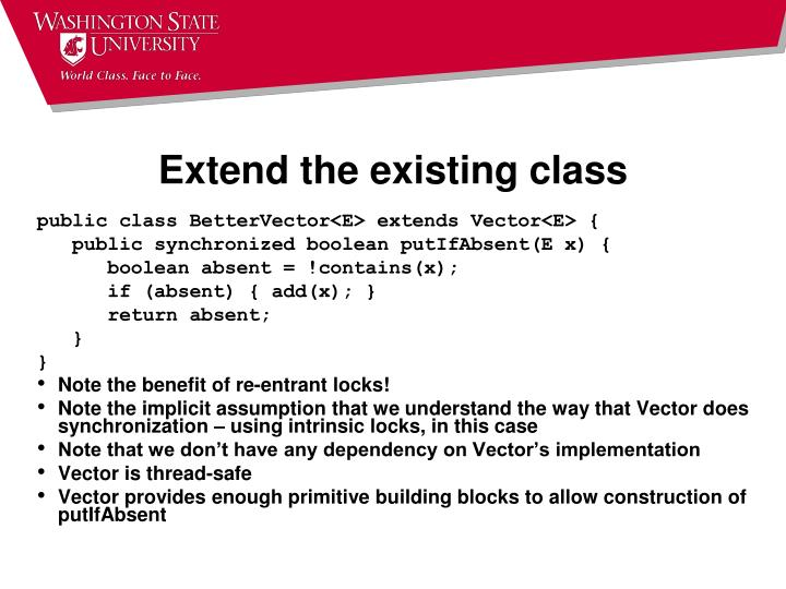 Extend the existing class