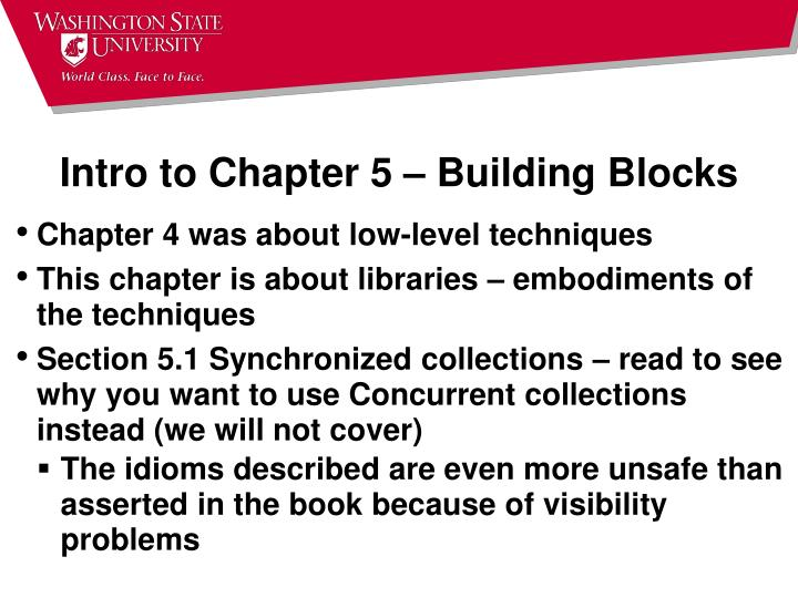 Intro to Chapter 5 – Building Blocks