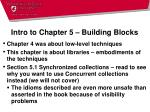 intro to chapter 5 building blocks