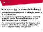 invariants the fundamental technique