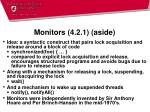monitors 4 2 1 aside