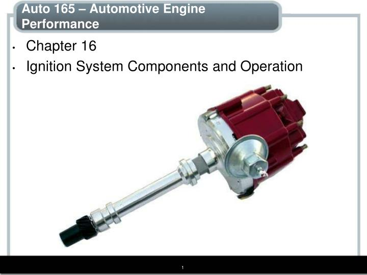 Auto 165 – Automotive Engine Performance