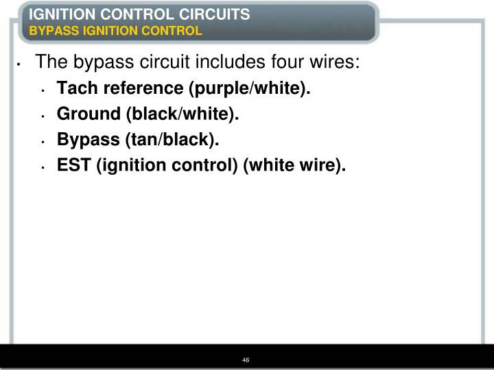 IGNITION CONTROL CIRCUITS