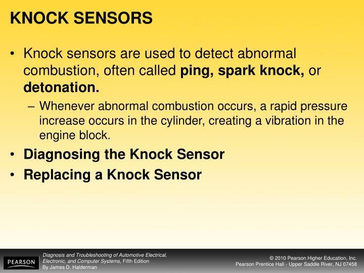 KNOCK SENSORS