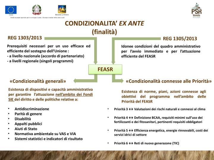 CONDIZIONALITA'